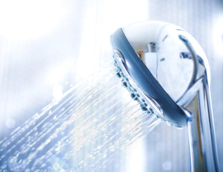 running showerhead